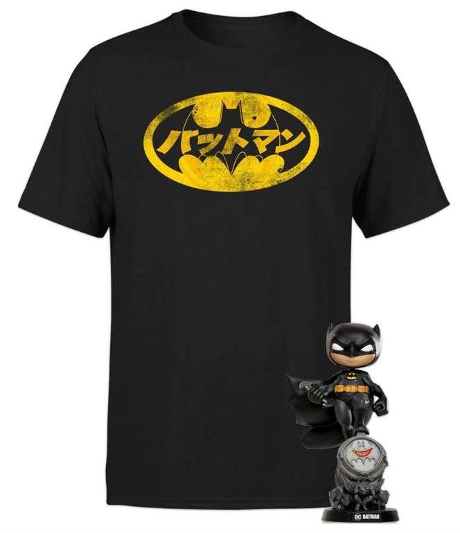DC Batman Bundle bestehend aus T-Shirt (Größe: XS - 5XL) und Figur für 19,48€ inkl. Versand