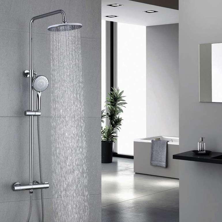 Homelody Duschsystem mit Thermostat, Regendusche & Handbrause für 99,99€ inkl. Versand (statt 160€)