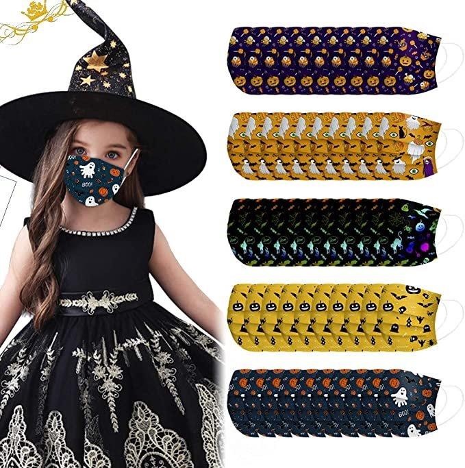 Zwxin 50er Pack Halloween Mund-Nase-Masken für Erwachsene & Kinder ab 7,15€ inkl. Versand