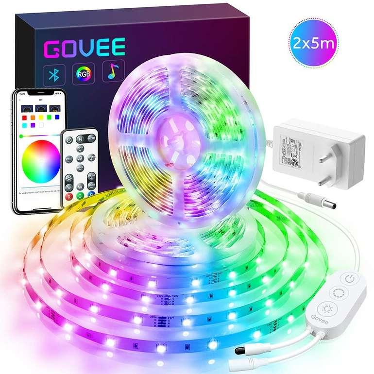 Govee 2 x 5m RGB LED Streifen Kit für 25,99€ inkl. Prime VSK (statt 40€)