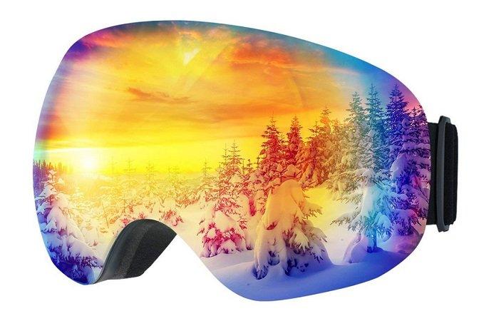 Mpow Ski- & Snowboardbrille mit UV-Schutz & Anti-Beschlag für 14,99€ mit Prime