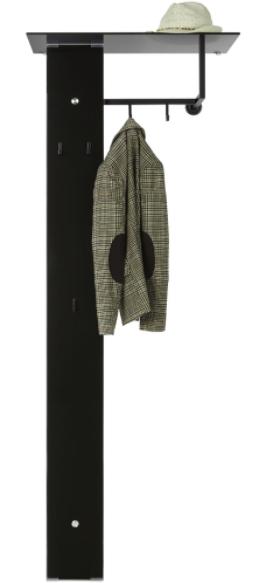 Modern Living Garderobe (71 x 190 x 40cm) in Schwarz für 99,88€ inkl. Versand (statt 130€)