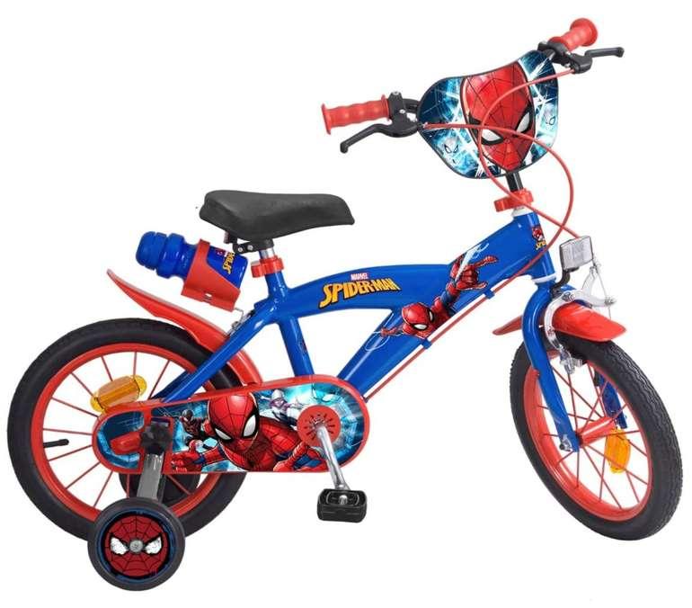 "Toimsa - 14"" Spiderman Kinderfahrrad für 67,96€ inkl. Versand (statt 121€)"