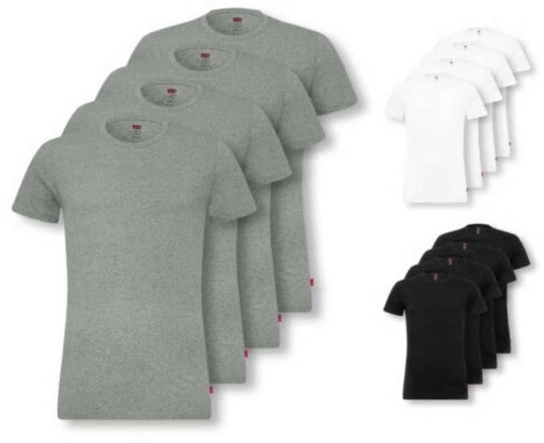 4er Pack Levis Herren V- und Crew-Neck T-Shirts für je 36,99€ inkl. Versand (statt 42€)