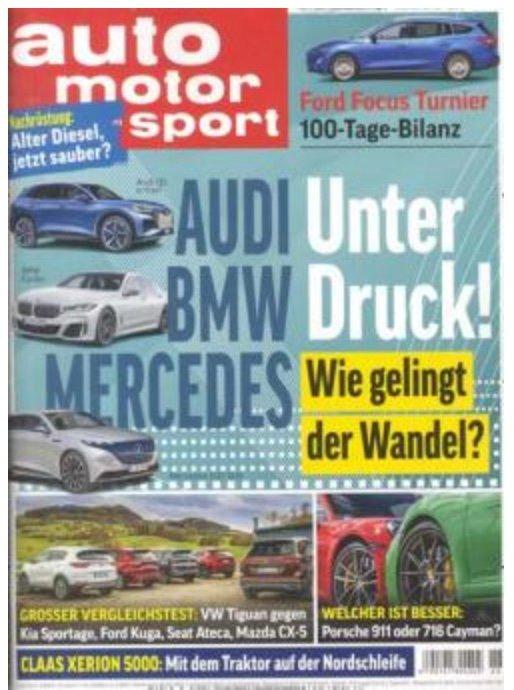 DPV Weihnachtskampagne mit Zeitschriften-Abos – z.B. 26x Auto Motor und Sport für 99,90€ + 90€ Gutschein