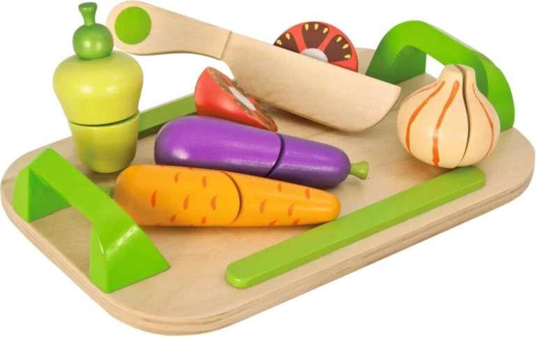 Holzspielzeug: Eichhorn Gemüse mit Schneidebrett aus Holz (12-tlg.) für 8€ inkl. Versand (statt 14€)
