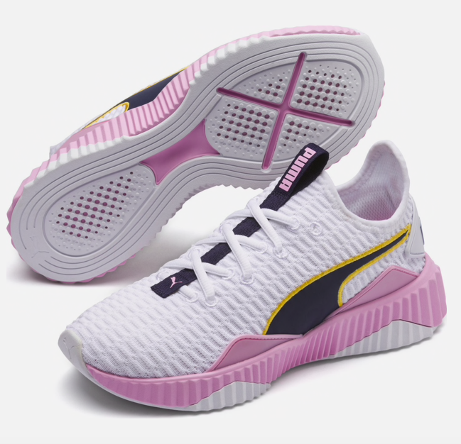 "Puma Damen Sneaker ""Defy"" in dunkellila / rosa / weiß für 44,95€ (statt 50€)"