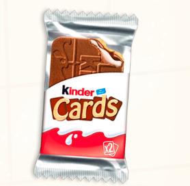 Gratis: Kinder Cards Kekswaffel kostenlos testen