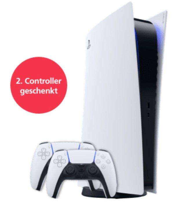 Sony PlayStation 5 Digital Edition inkl. 2. Controller (5,99€) + o2 Allnet 20GB LTE für 42,99€ mtl. oder 40GB LTE für 47,99€ mtl.