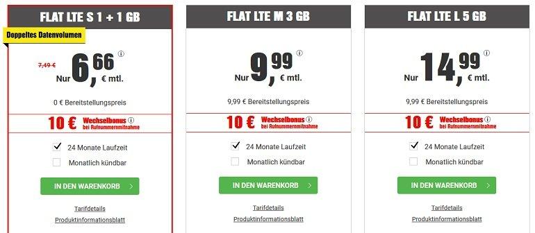 BILDconnect o2 Allnet-Flat mit 2GB LTE 2