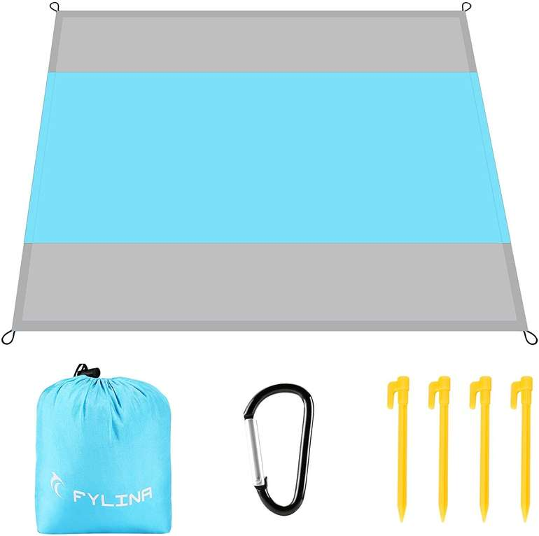 Fylina Strand- & Picknickdecke inkl. Heringe (270 x 210 cm) für 4,99€ inkl. Prime Versand (statt 10€)