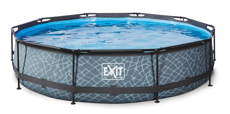 EXIT Stone Pool in 360 x 76 cm mit Filterpumpe für 165,93€ (statt 187€)