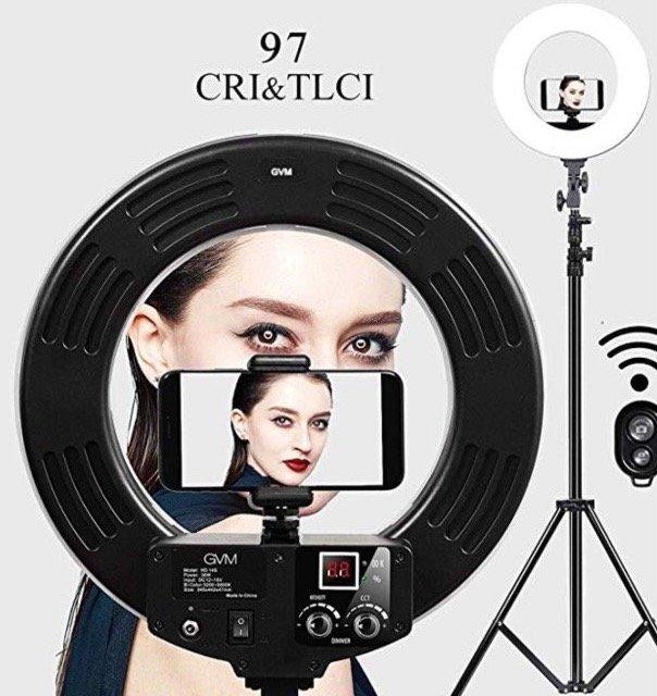 2 GVM Artikel günstiger bei Amazon dank Gutschein, z.B. Selfie Ringleuchte bzw. RingLicht Set 64,99€