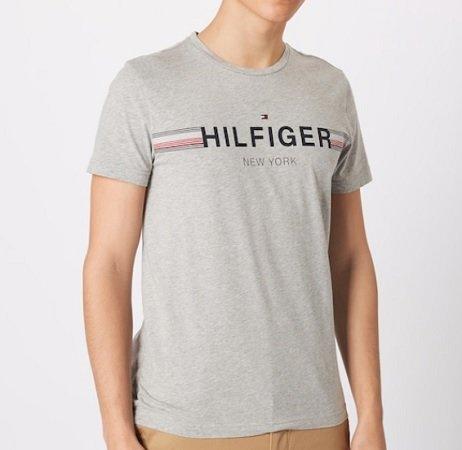 Tommy Hilfiger T-shirt in grau für 25,11€ inkl. VSK (statt 40€)