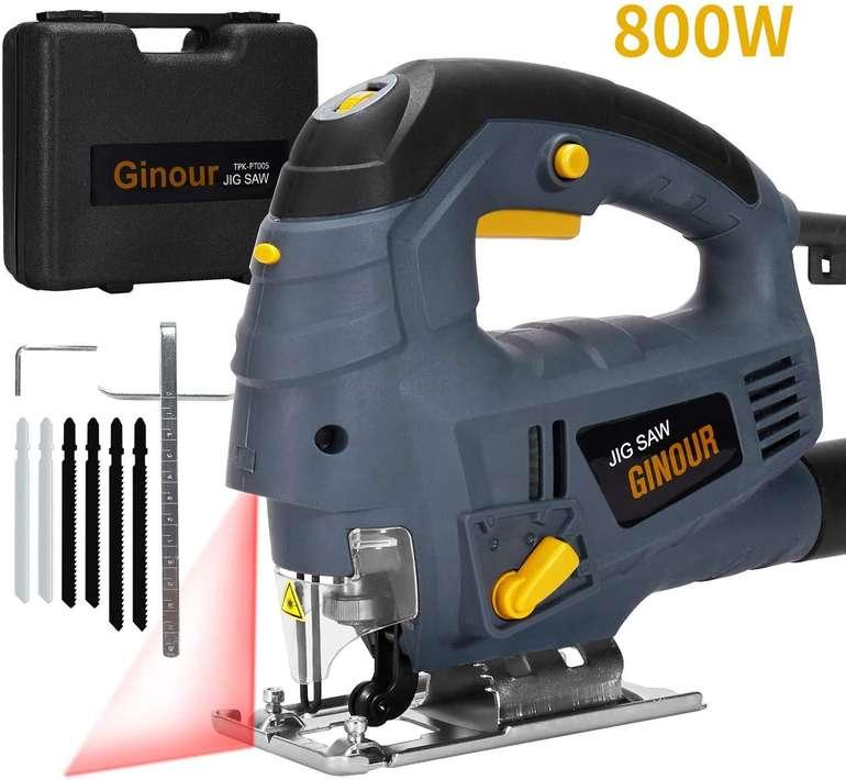 Ginour 800W Stichsäge mit Laserführung für 23,99€ inkl. Versand (statt 40€)