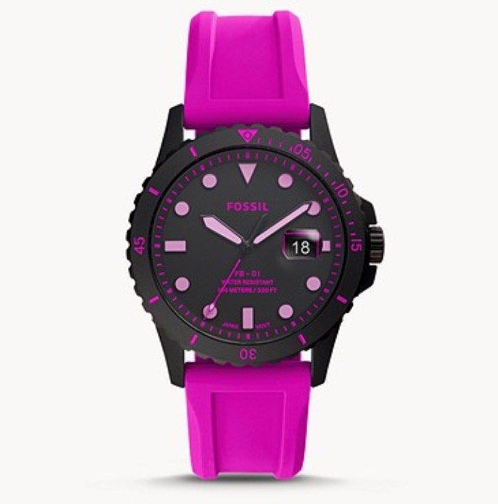 Fossil FB-01 Armbanduhr mit Datumsanzeige und Silikonarmband (versch. Farben) für je 65€ (statt 90€)