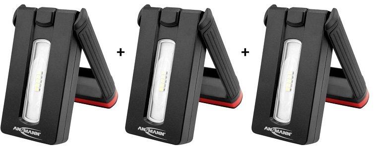3er Pack Ansmann WL200R LED Akku-Werkstattleuchten für 52,36€ (statt 150€)