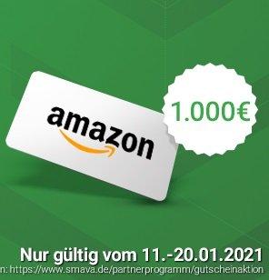 Smava Kredit ab 40.000€ aufnehmen und einen 1.000€ Amazon.de Gutschein bekommen