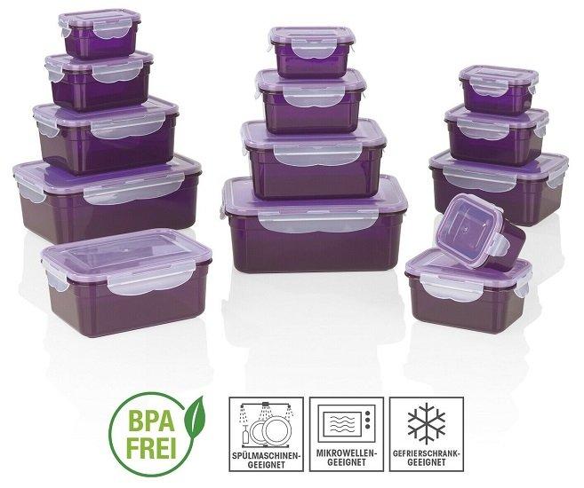 GOURMETmaxx 28-teiliges Frischhaltedosen-Set Klick-it