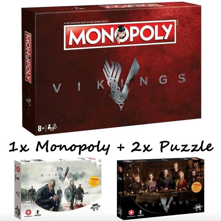 Monopoly Vikings Gesellschaftsspiel + 2x 500 Teile Puzzles für 42,49€ inkl. Versand (statt 67€)