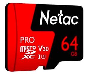 Netac P500 Pro TF Speicherkarte mit 64GB Speicher in Ferrari rot für 12,47€