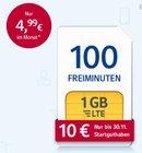 1&1 Special: Allnet Flats mit 1 bis 3GB Daten (LTE) ab 6,99€ + Startguthaben
