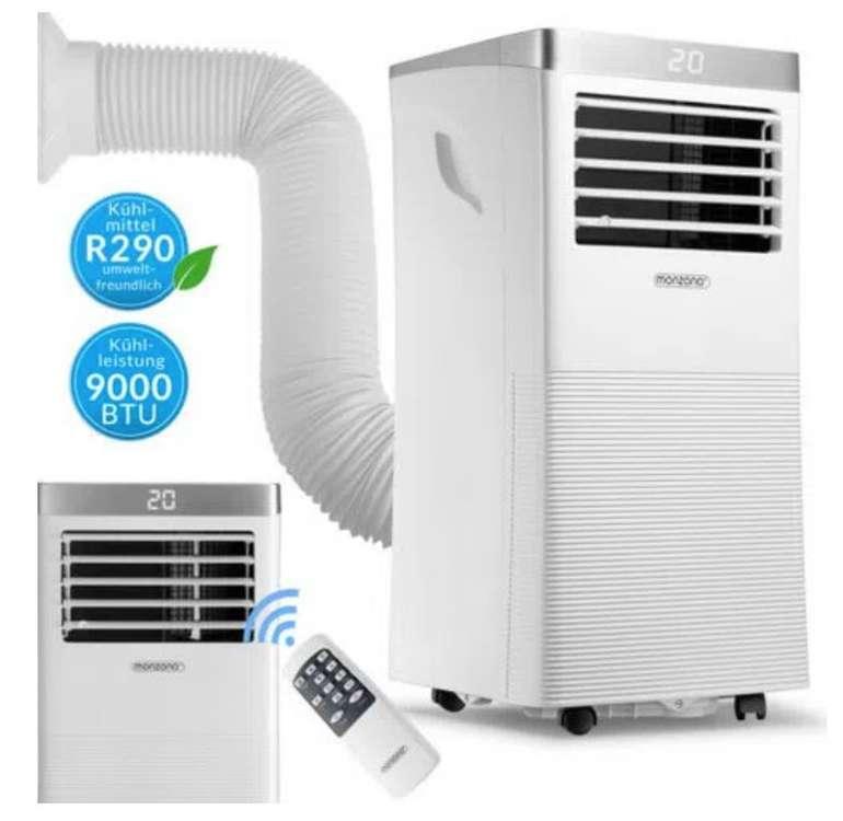 Monzana MZKA1000 Klimaanlage mit Abluftschlauch, 9000 BTU/h und App-Steuerung für 249,95€ (statt 275€)