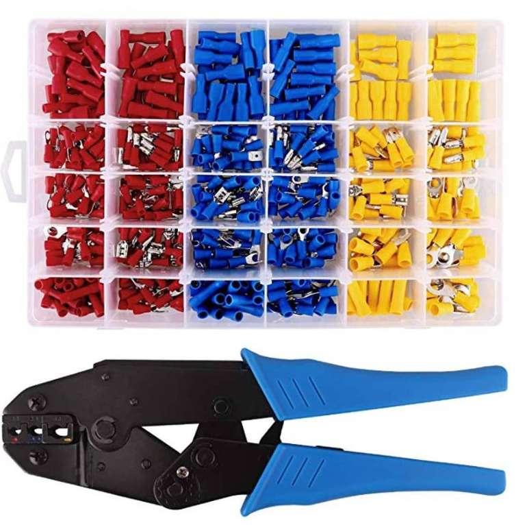 Maikasen MKS Crimpzange + 500 Stück elektrische Steckverbinder für 22,49€ (Prime)