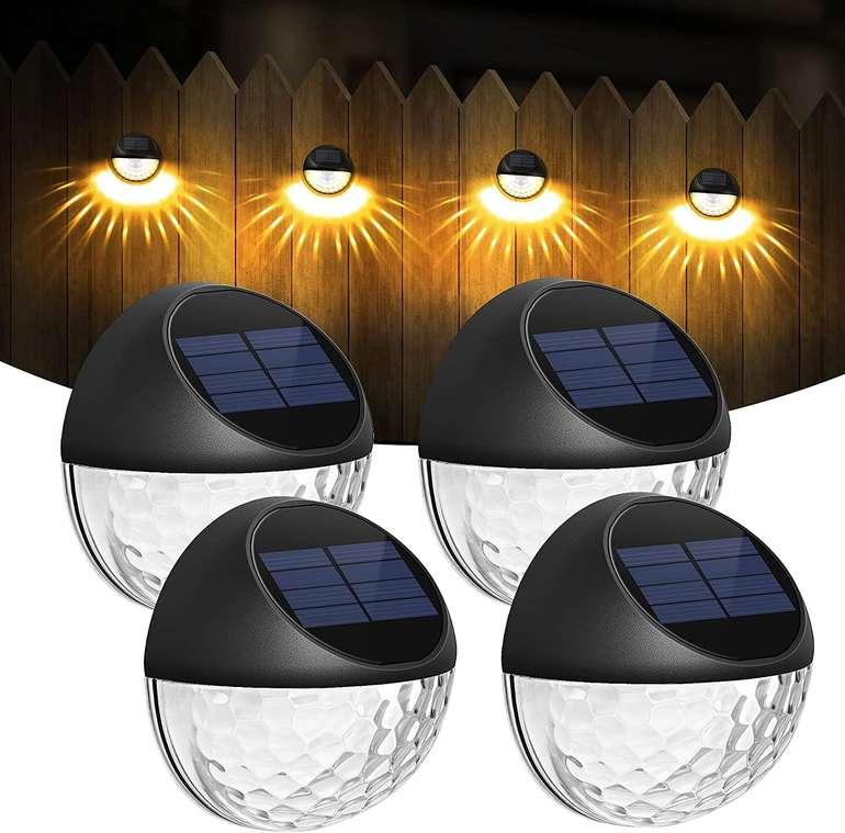 Cokwel 4er Pack Solar Wandlampen (IP65) für 16,51€ inkl. Prime Versand (statt 22€)