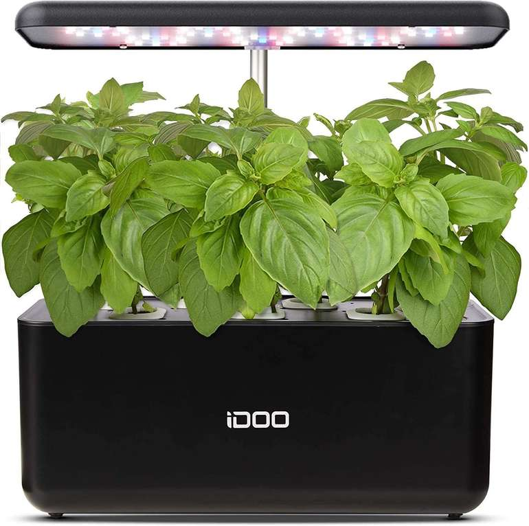 Idoo hydroponisches Anzuchtsystem mit LED Pflanzenlampe (37cm) für 39,99€ inkl. Versand (statt 60€)