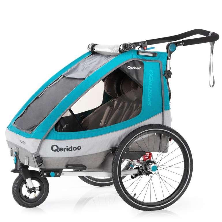 Qeridoo Kinderfahrradanhänger Sportrex2 (2020) für 369,23€ inkl. Versand (statt 409€)