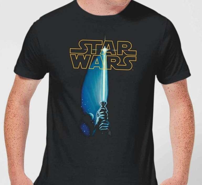 Star Wars Classic Lightsaber Herren T-Shirt für 10,99€ inkl. Versand (statt 19€)