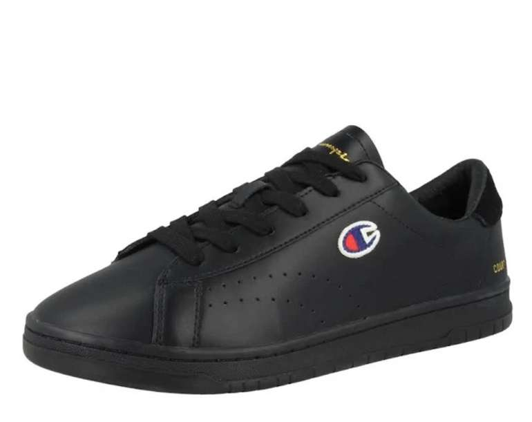 Champion Authentic Athletic Apparel Sneaker 'Court Club Patch' in schwarz für 27,96€ inkl. Versand (statt 54€)