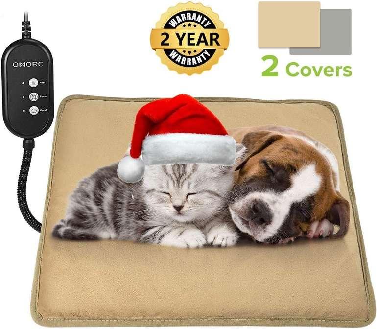 Omorc Heizkissen für Hunde & Katzen (2 Bezüge, 3 Heizstufen, Timer) für 12€ inkl. Prime Versand