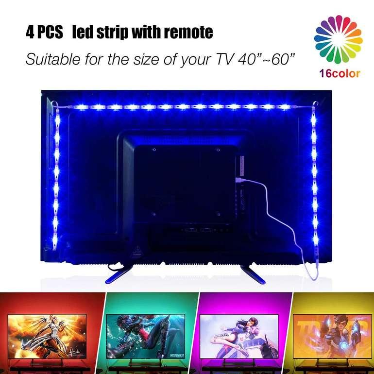 Pangton Villa LED TV Hintergrundbeleuchtung mit Fernbedienung für 5,99€ (Prime)