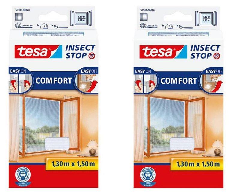 2er Pack Fliegengitter Tesa Insect Stop Comfort 130x150cm für 24,90€ (statt 35€)