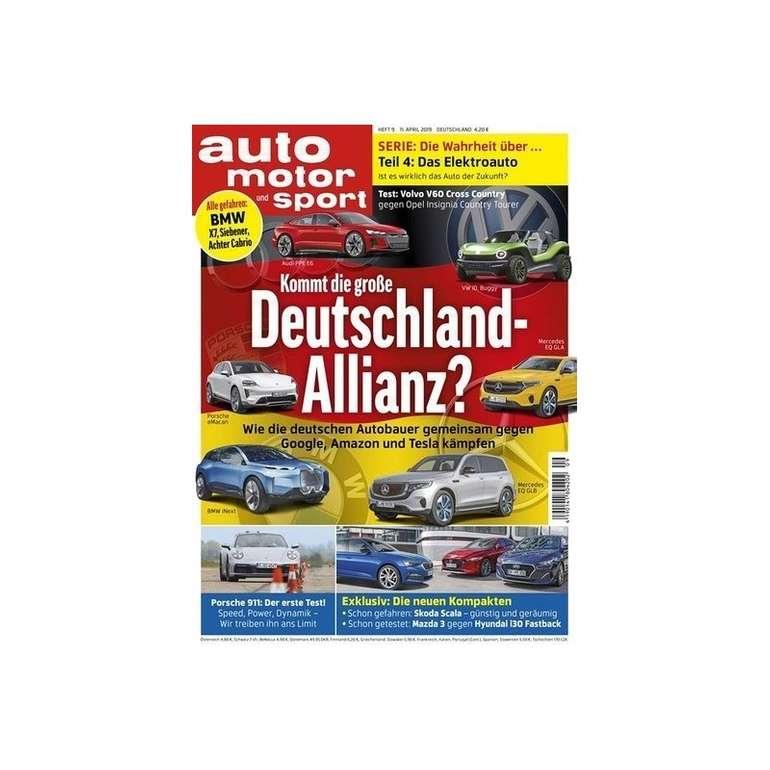 6 Ausgaben Auto Motor und Sport nur 4,95€ - Keine Kündigung notwendig!