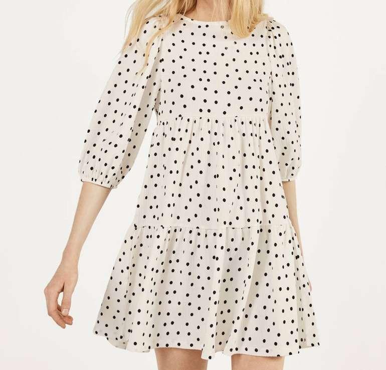 Bershka Babydoll-Kleid mit Print (versch. Farben) für je 12,94€ inkl. Versand (statt 22€)