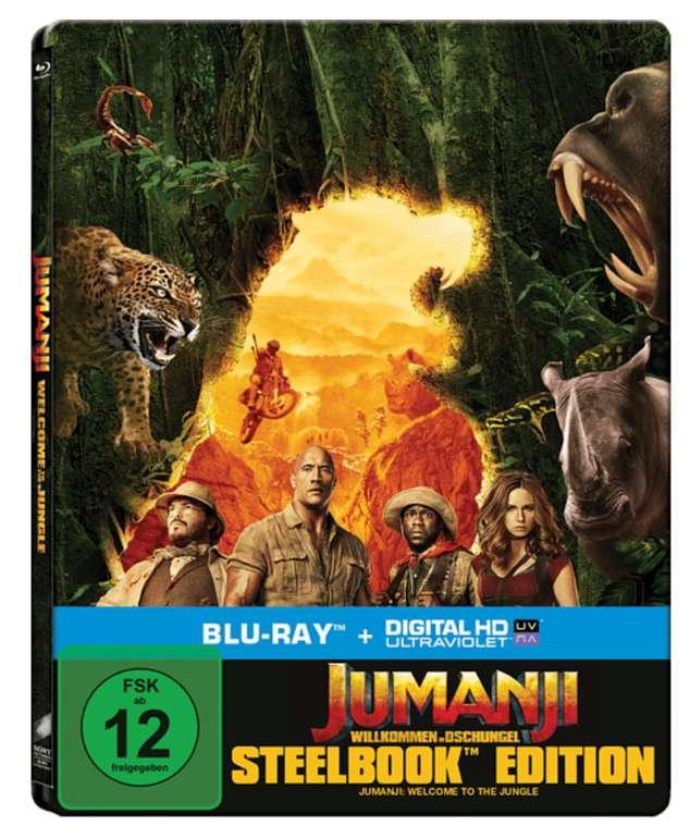 Jumanji: Willkommen im Dschungel (Steel-Edit.) Blu-ray für 8,98€ inkl. Versand (statt 18€)