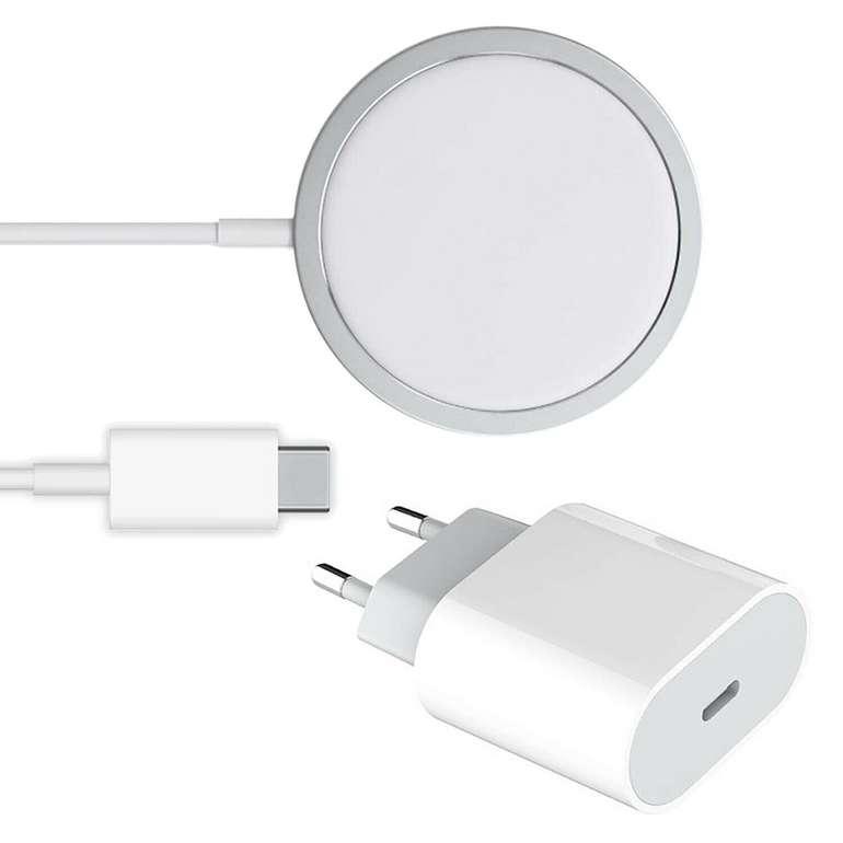 20W USB-C Power Adapter PD Ladegerät + 15W Magsafe Charger für iPhone 12 für 17,90€ inkl. Versand
