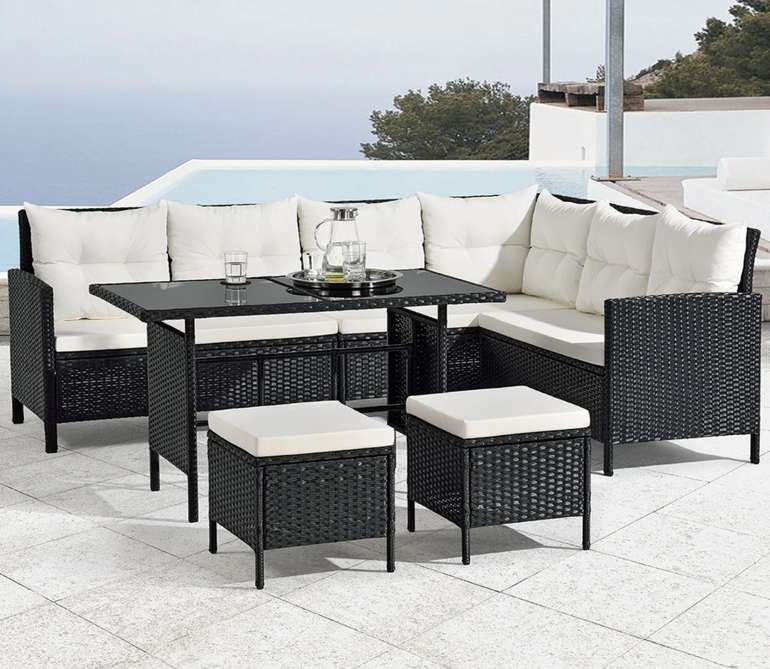 Juskys Polyrattan Lounge Manacor Gartenmöbel Set für 479,99€inkl. Versand (statt 560€)