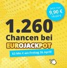 EuroJackpot: 1.260 Chancen spielen für nur 9,90€ - 63 Mio € Jackpot! (Neukunden)