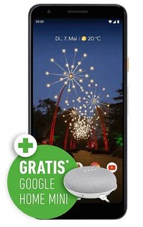 o2 AllNet-Flat mit 5GB LTE + Google Pixel 3a + Google Home Mini für 19,99€ mtl.