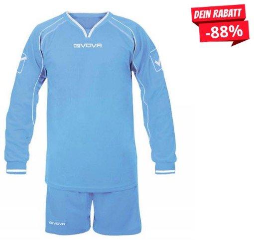 Viele Givova Langarm-Trikot mit Short (Fußball) für je 4,44€ + 3,95€ Versand