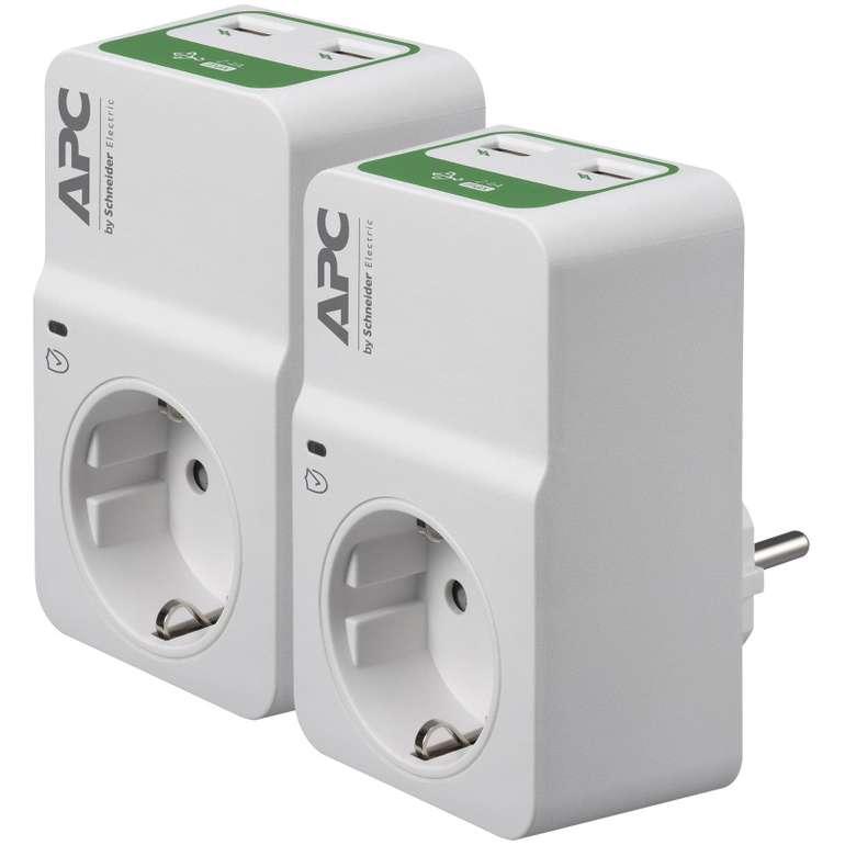 APC PM1WU2 Duo Essential SurgeArrest (1 Ausgang, 230V, 2x USB mit Ladefunktion) für 17,90€