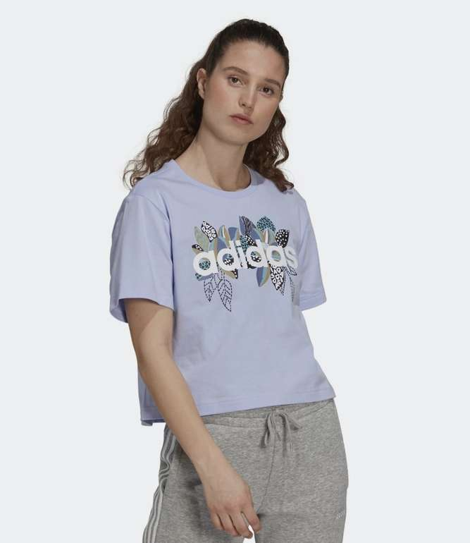 Adidas x Farm Rio Print Boyfriend Cropped Cotton Logo T-Shirt für je 21€ (statt 31€) - Creators Club