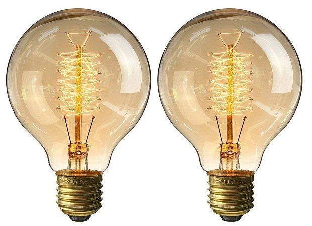 Doppelpack KingSo E27 Edison G80 40W Retro Lampen für 9,49€ - Prime!