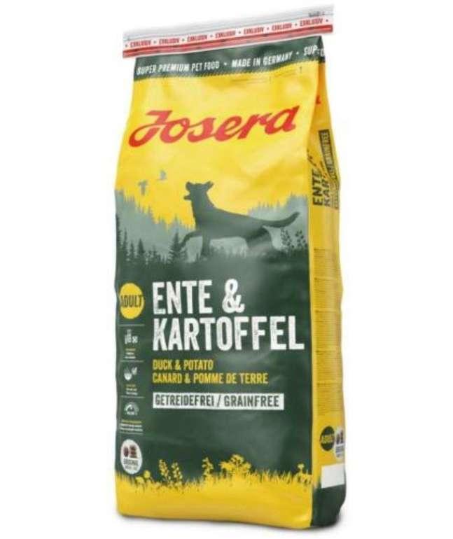 """15kg Josera Exklusiv Hundefutter """"Ente & Kartoffel"""" (getreidefrei) für 44,91€ inkl. Versand (statt 49€)"""