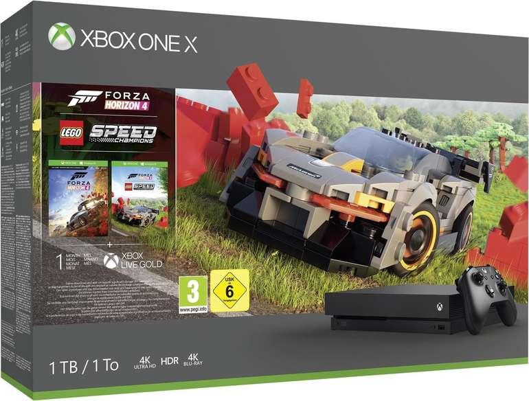 Microsoft Xbox One X 1TB + Forza Horizon 4 LEGO Speed Champions für 264,90€ (statt 290€)