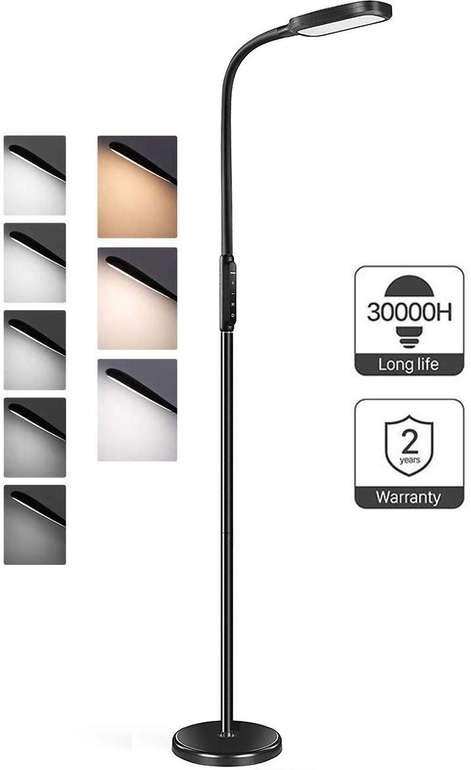 Miroco dimmbare LED Stehlampe (12 W, 5 Helligkeitsstufen, 3 Farbmodi) für 34,99€ (statt 47€)